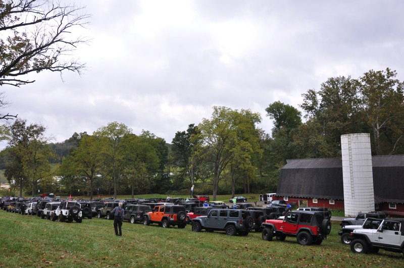All those beautiful, clean Jeeps just waiting to get muddy!