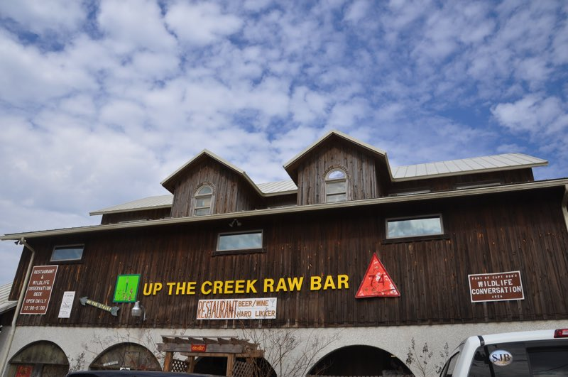 Another stop for delicious oysters at Up The Creek Raw Bar