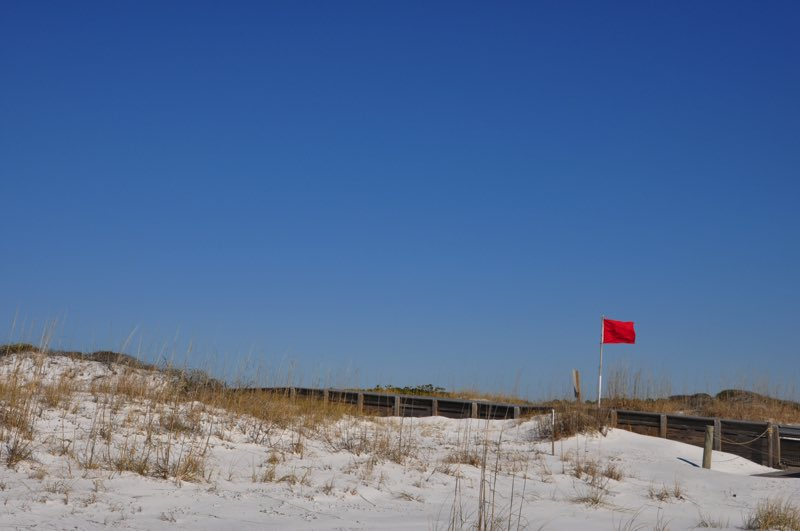 Red flag up! Dangerous wind and currents out there.