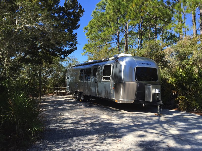 On my morning walk I was pleased to see an Airstream 30' Flying Cloud that arrived overnight