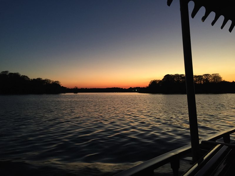 Just another beautiful sunset from the boat - Yawn!
