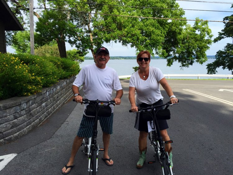 We rode our new folding bikes http://shop.dahonbikes.com/p/ciao-d7?pp=8 around the campground and down to the lake.