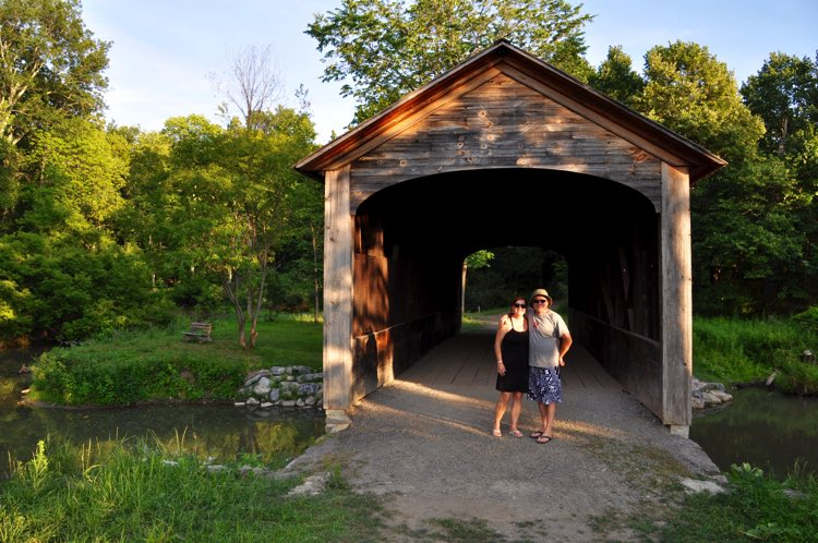 "As Bob said, ""According to 'the lady', this is the oldest covered bridge in the United States"""
