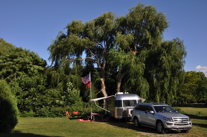 Site numer 227, under an enormous willow tree