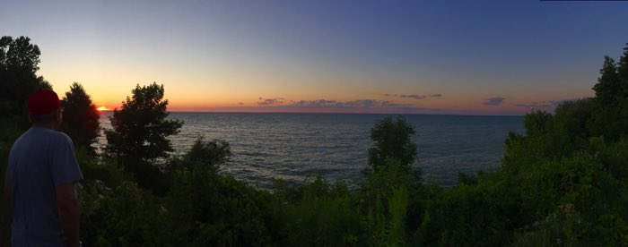 We spent some time enjoying the view of Lake Ontario sunset.