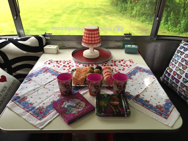 I hosted a 'tea party' in the June Bug for three little nieces