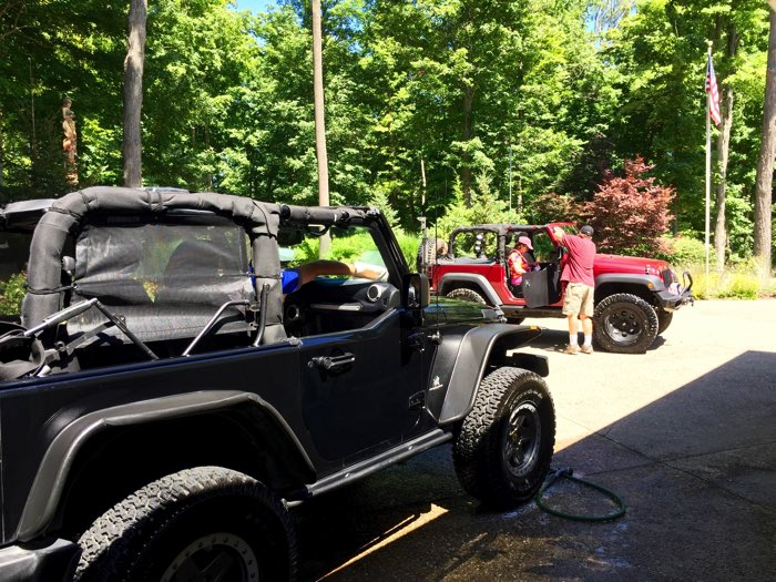 A beautiful day to wash the Jeeps and go for a ride