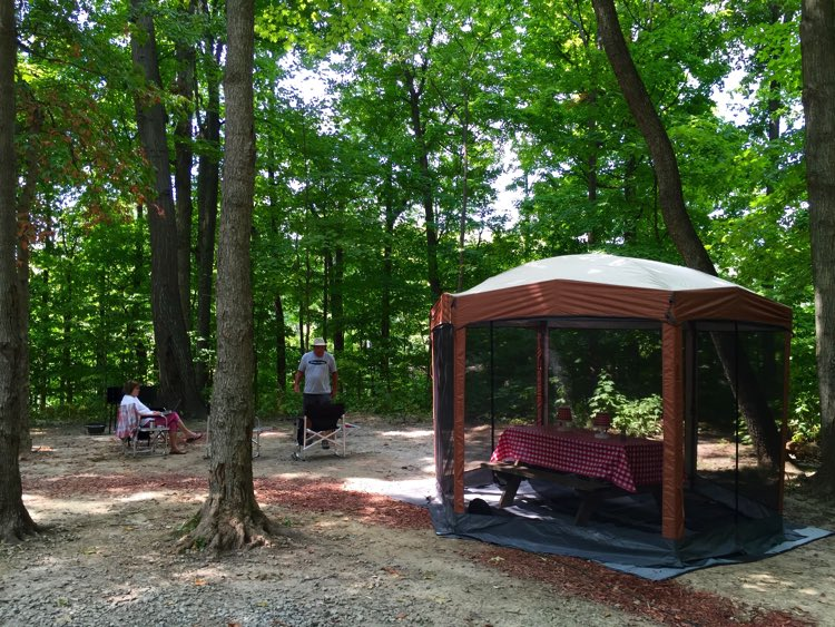 Our new Coleman screen house was a lifesaver and made a perfect spot for dining. The mosquitos were thick!