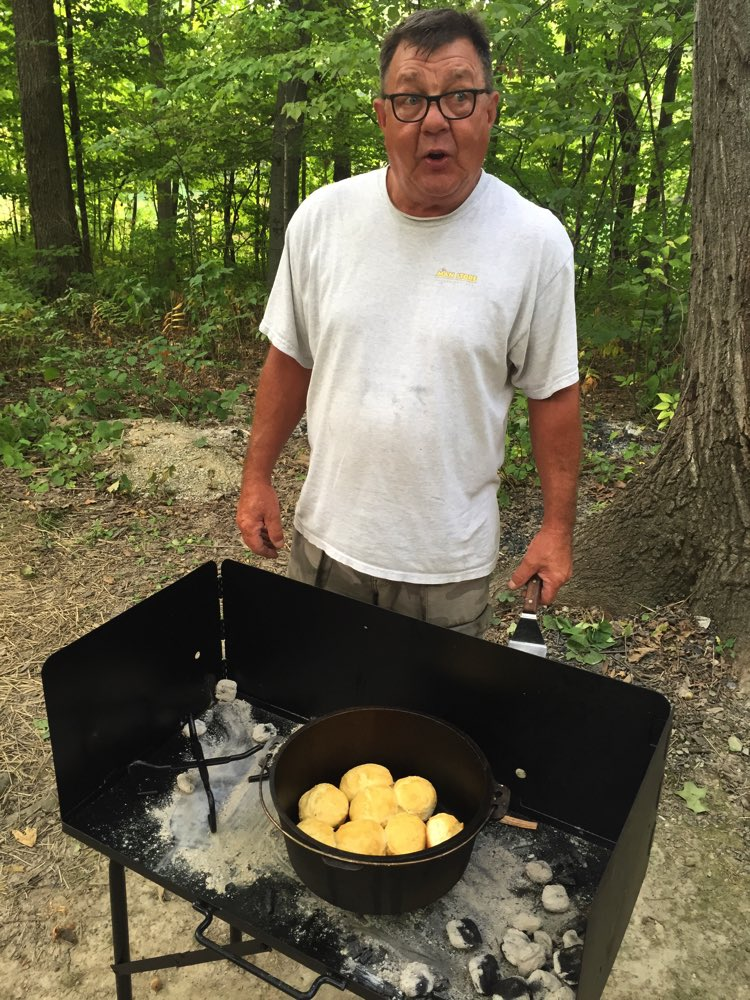 Biscuits in the Dutch oven - - PERFECTION!