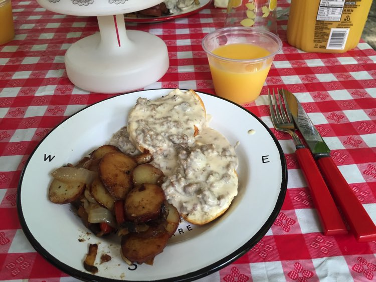 Frank's homemade sausage gravy and taters
