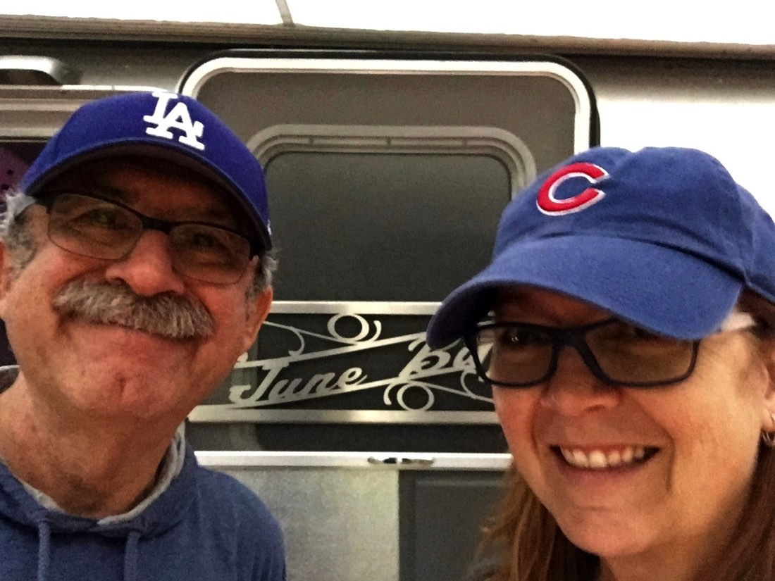 Lucky for us, the Dodgers and Cubs were both in the baseball playoffs and we got to see the games. House Divided!