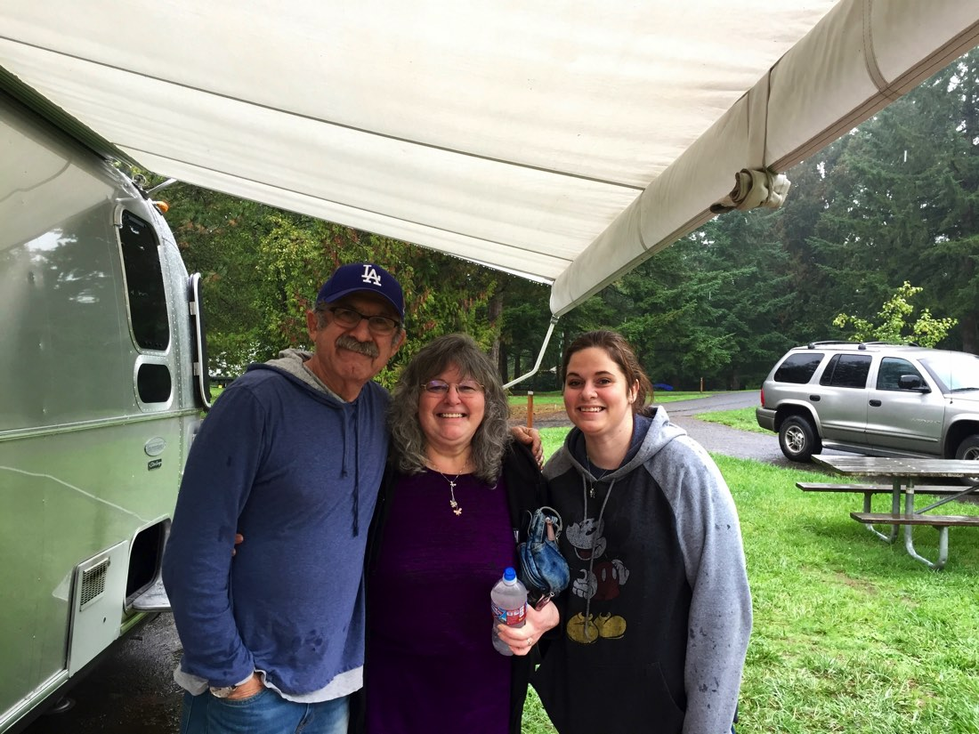 Marianne and her daughter Holly even visited our campsite