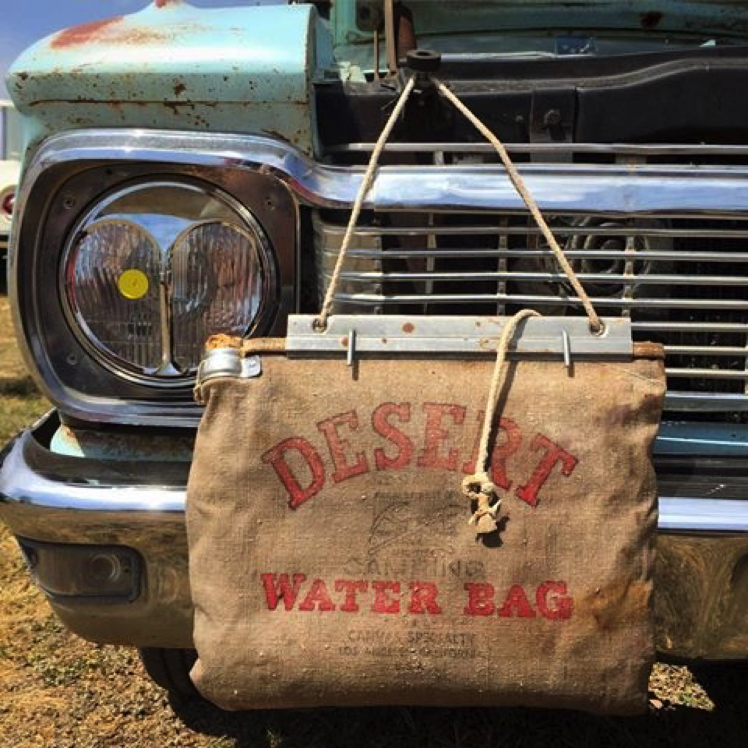 "Burlap ""water bag"" that proves Bob is old."