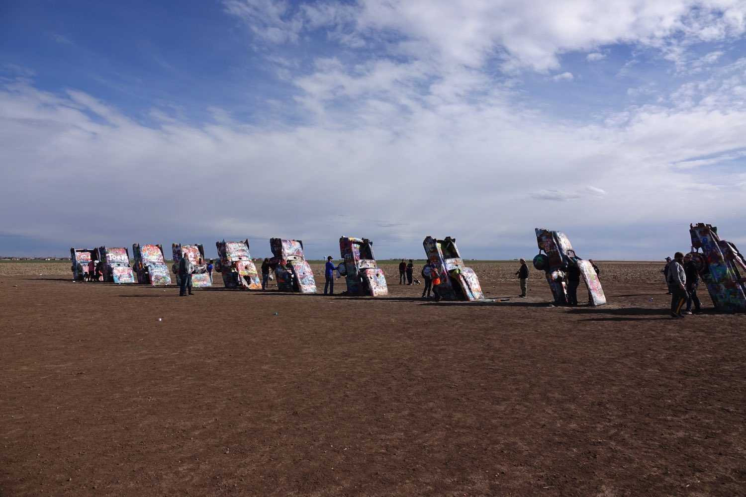 Cadillac Ranch, just West of Amarillo, Texas